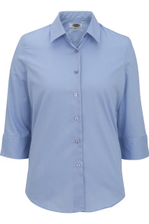 Edwards Ladies Easy Care Poplin Blouse - 3/4 Sleeve