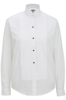 Edwards Ladies Wing Collar Tuxedo Shirt