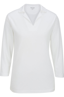 Edwards Ladies Performance Flat-Knit 3/4 Sleeve Polo