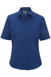 Edwards Ladies Cottonplus Short Sleeve Twill Shirt