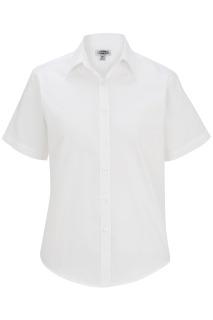 Edwards Ladies Pinpoint Oxford Shirt - Short Sleeve