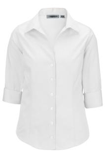 Edwards Ladies Oxford Non-Iron Dress Blouse - 3/4 Sleeve