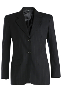 Edwards Ladies Pinstripe Wool Blend Suit Coat