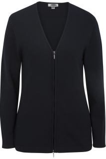 Edwards Ladies Full Zip V-Neck Cardigan Sweater