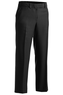 Edwards Ladies Mid-Rise Microfiber Flat Front Pant