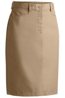 Edwards Ladies Blended Chino Skirt-Medium Length