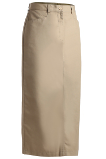 Edwards Ladies Blended Chino Skirt-Long Length