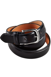 Edwards Leather Dress Belt With Nickle Brushed Buckle