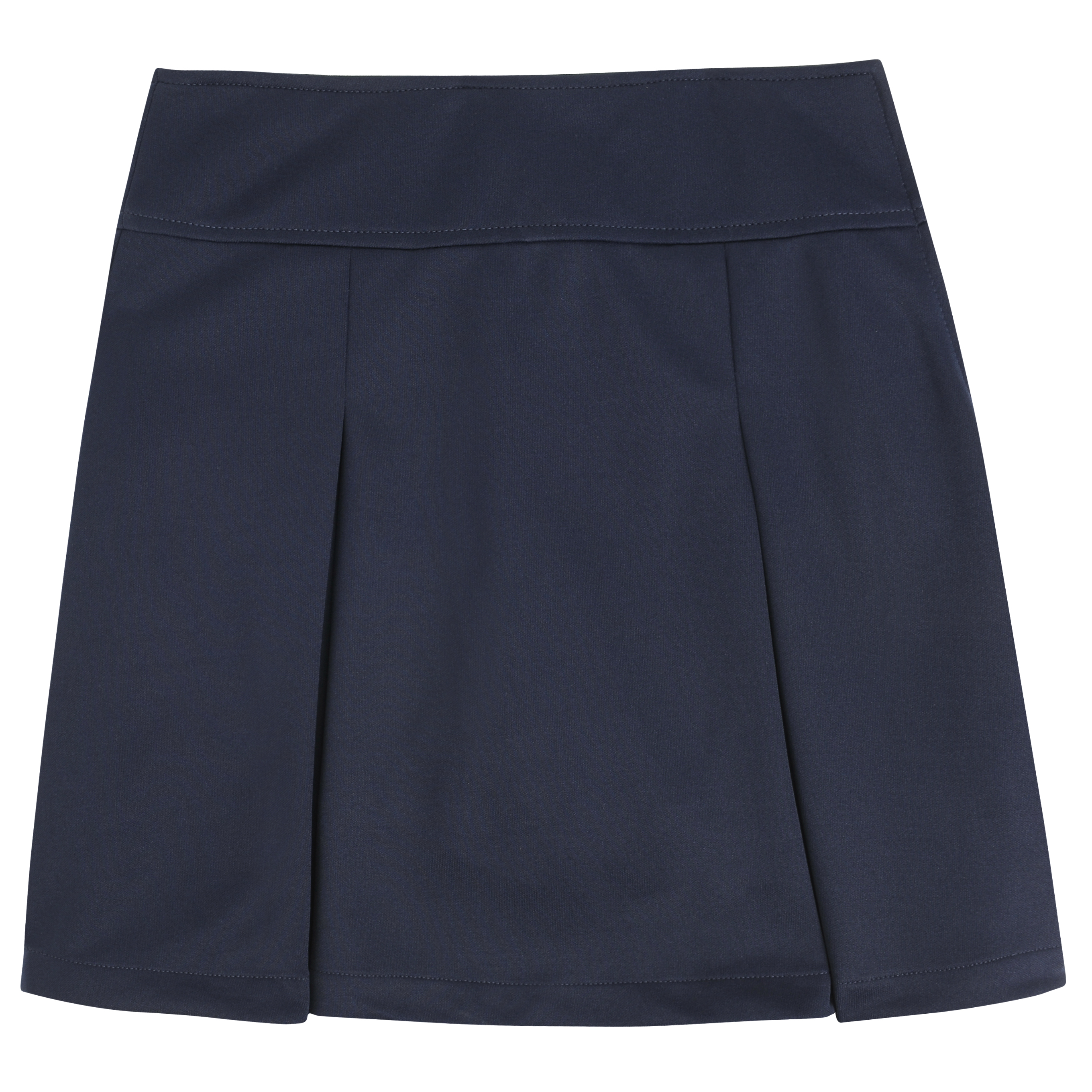 Girls Skort (Navy and Plaid)-French Toast