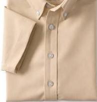 Khaki Oxford- Short Sleeve Shirt (Adult Sizes S-4XL)-French Toast
