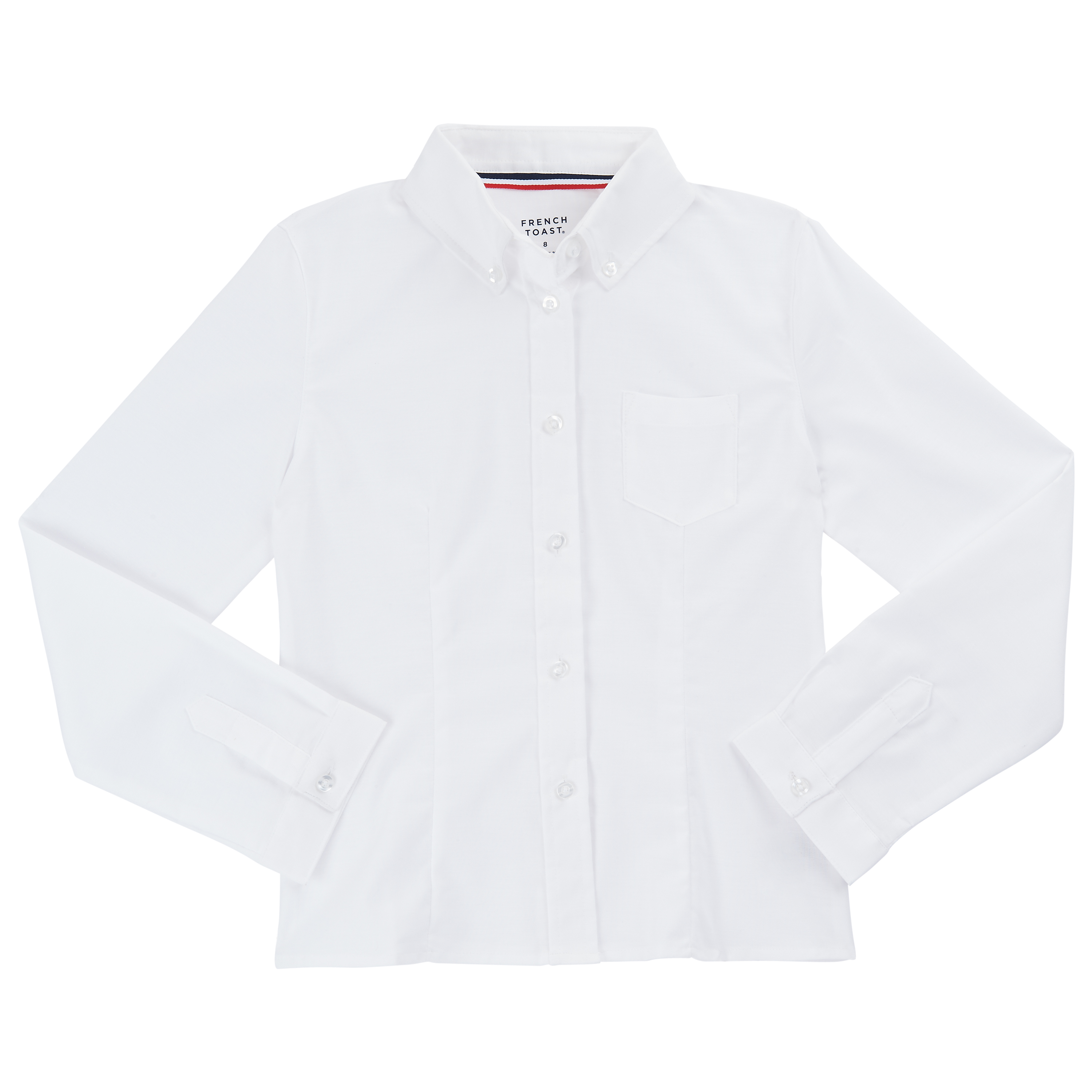 White Oxford- Long Sleeve Shirt (Adult Sizes S-4XL)-French Toast