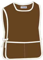 Brown with 2 pockets