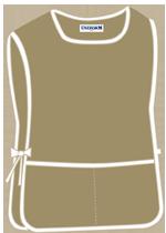 Khaki with 2 pockets