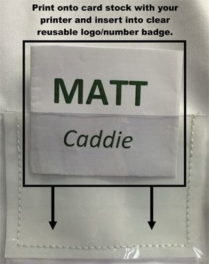 Reusable Logo/Number Badge-International Uniform