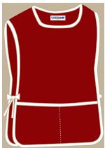Maroon with 2 pockets