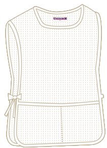 White with 2 pockets