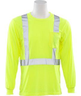 14124 9602S Class 2 T Shirt Long Sleeve 2X-