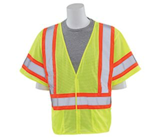 14615 S682P Class 3 Mesh Hi Viz Lime with Contrasting Trim 5X-ERB Safety