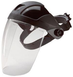 15160 E12 Deluxe Ratchet Headgear Clear Polycarbonate Face Shield-
