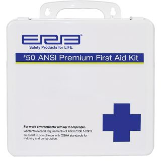 50 Plastic Premium First Aid Kit-