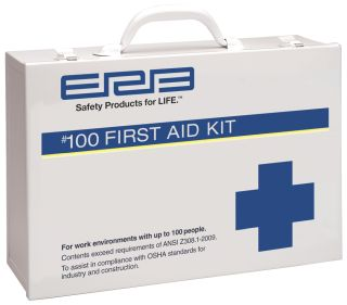 100 Metal Premium First Aid Cabinet-ERB Safety