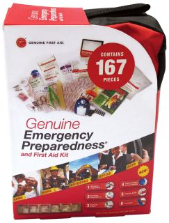 167 pc Soft Sided Emergency Preparedness First Aid Kit-