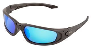 Exile Gray frame, Blue Mirror lenses, Retail Ready-ERB Safety