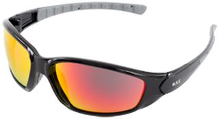 Ammo Sport Black frame, Red Mirror lenses, Retail Ready-ERB Safety