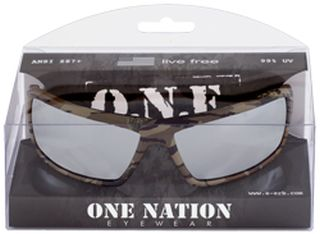 Live Free Camo, Silver Mirror lenses, Boxed-ERB Safety