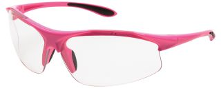 Ella Pink frame, Clear lenses-ERB Safety