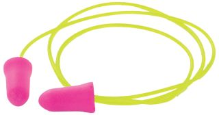 GP05C Disposable Pink Corded Earplugs-ERB Safety