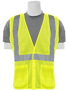61103 S320 Class 2 Mesh Break Away Hi Viz Lime 2X-