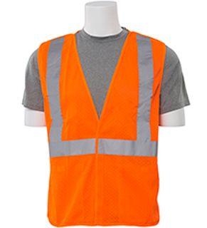 61111 S320 Class 2 Mesh Break Away Hi Viz Orange LG-ERB Safety