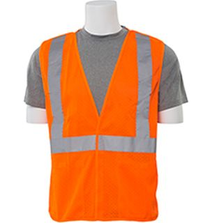 61115 S320 Class 2 Mesh Break Away Hi Viz Orange 4X-