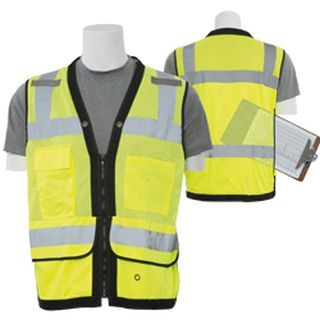 61233 S251 Class 2 mesh Surveyor Hi Viz Lime XL-