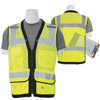 61236 S251 Class 2 mesh Surveyor Hi Viz Lime 4X-