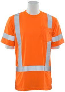 61271 9801S Class 3 Short Sleeve T Shirt Hi Viz Orange LG-