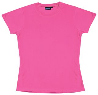 61287 7000 Non ANSI Women's Fitted T Shirt Jersey Knit in Pink XS-