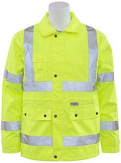 61481 S371 Class 3 Rain Coat Hi Viz Lime LG-