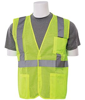 61627 S362P Class 2 Economy Hi Viz Lime with pockets XS-