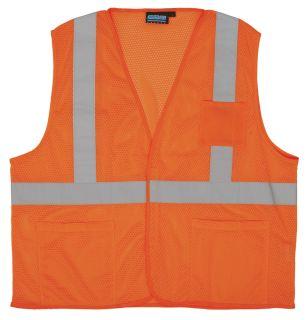 61638 S362P Class 2 Economy Hi Viz Orange with pockets MD-