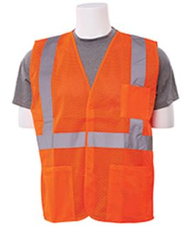 61639 S362P Class 2 Economy Hi Viz Orange with pockets LG-