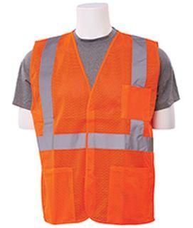61641 S362P Class 2 Economy Hi Viz Orange with pockets 2X-