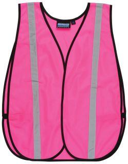 61728 S102 Non ANSI Hi Viz Pink Vest OSFM-
