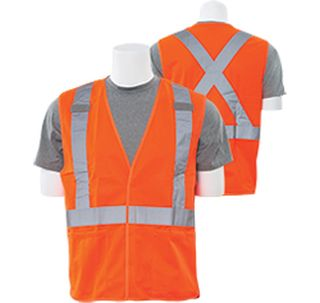 61743 S101X Class 2 Break Away X Back Hi Viz Orange 2X-