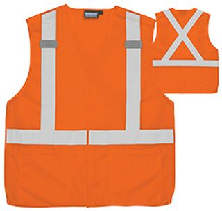 61744 S101X Class 2 Break Away X Back Hi Viz Orange 3X-