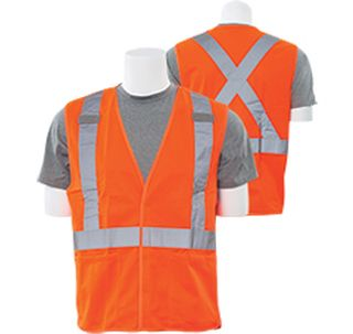 61746 S101X Class 2 Break Away X Back Hi Viz Orange 5X-