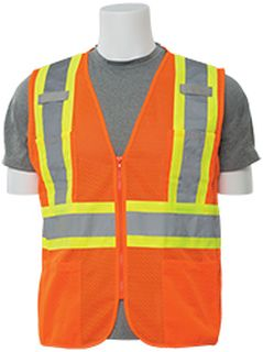 61822 S383P Class 2 Mesh Hi Viz Orange Contrasting Trim SM-