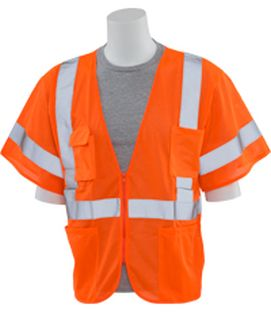 61938 S663P Class 3 Mesh Hi Viz Orange XL-