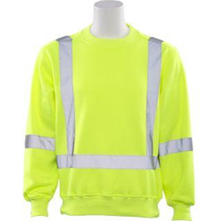62003 W143 Class 3 Crew Neck Sweatshirt Hi Viz Lime 2X-